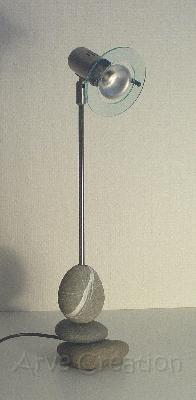 arve cr ation galets et bois flott lampe d 39 tudiant. Black Bedroom Furniture Sets. Home Design Ideas