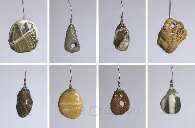 Arve Création galets et bois flotté : pendentifs, bijoux fantaisie ...